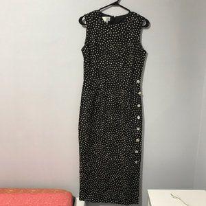 Maggy London Polka Dots Linen Cotton Dress Size 4